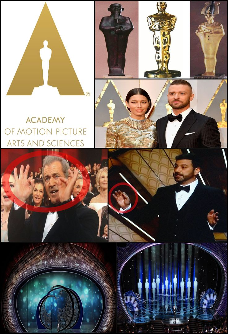 The Academy Awards also uses its massive platform to peddle propaganda each year while incorporating a vast array of occult symbolism and imagery. This included continuous use of the Divine King sign, a stage set designed to resemble the Eye Of Providence and the abundant use of pyramids concealed within the new Oscars logo. The golden Oscar which is awarded annually to Hollywood's elite is also rooted in Egyptian mysticism as it was crafted after ancient statues of Osiris, the god of death.