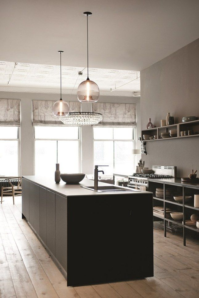 CUISINE ÉQUIPÉE | ♥ ZALINKA.COM ☆ Inspiration * INTERIEUR * Soho Loft Apartment | photo ditte isager