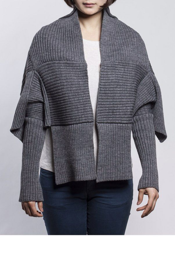 Monk Shawl Wool & Knitting  160x 65Cm Gray & Navy BLue