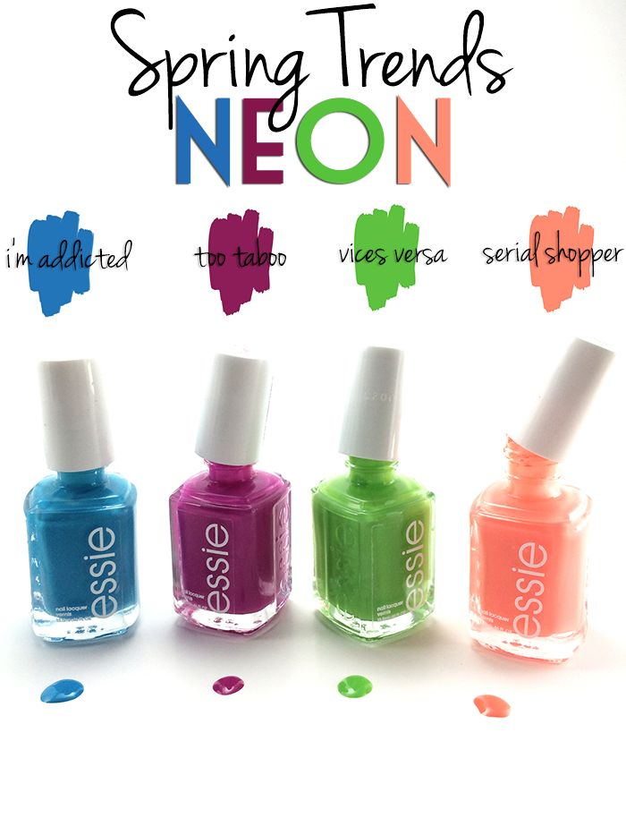 Spring Nail Trends Waterfall Nails Essie Neons #WalgreensBeauty #shop