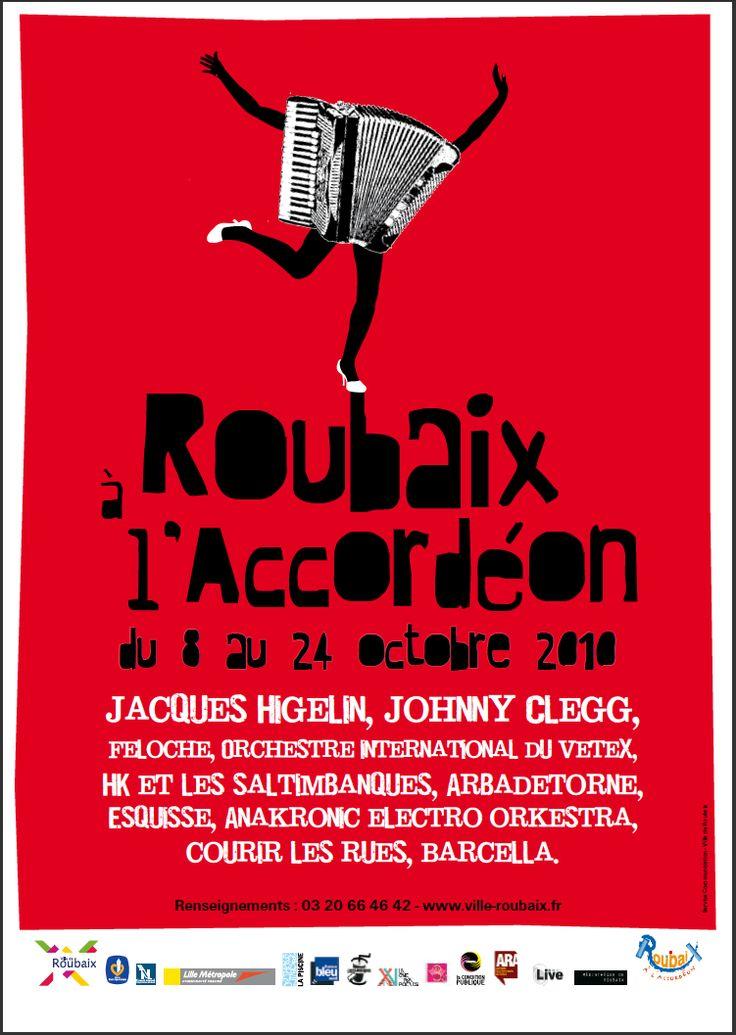 Roubaix à l'accordéon 2010 © création Amandine Derachinois - Ville de Roubaix