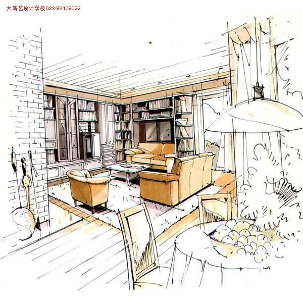 Interior Design Sketches Perspective Drawing Architecture Hand Drawings Plans Sketch Maquettes Diy