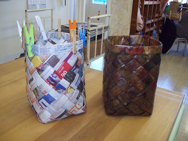 Newspapers baskets