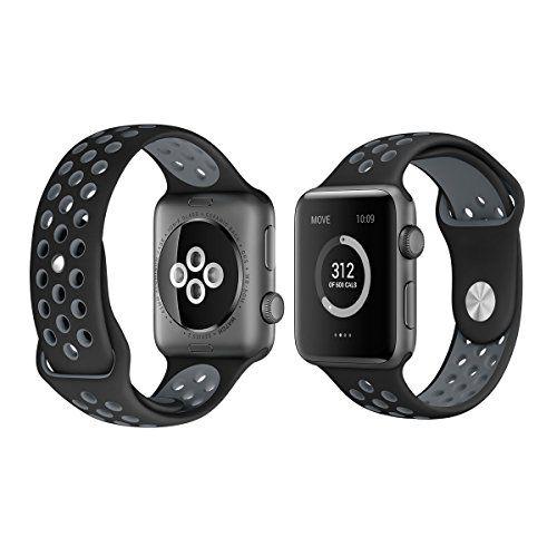 cool Apple Watch Correa, YDI Silicona Suave Reemplazo de Banda Sport Correa para Apple reloj series 1 / series 2 y Nike +, S/M/L tamaño.