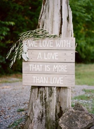 Wooden signage | SouthBound Bride | http://www.southboundbride.com/wild-industrial-wedding-inspiration | Credits: Jenna Henderson & Cedarwood Weddings
