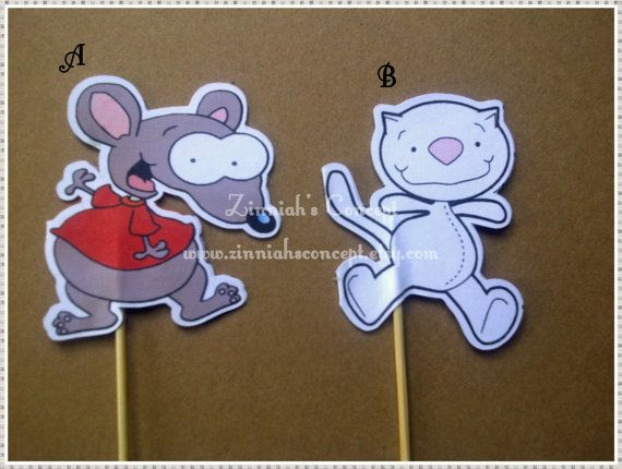 12 Toopy and Binoo Cupcake Toppers by ZinniahsConcept on Etsy, $5.25