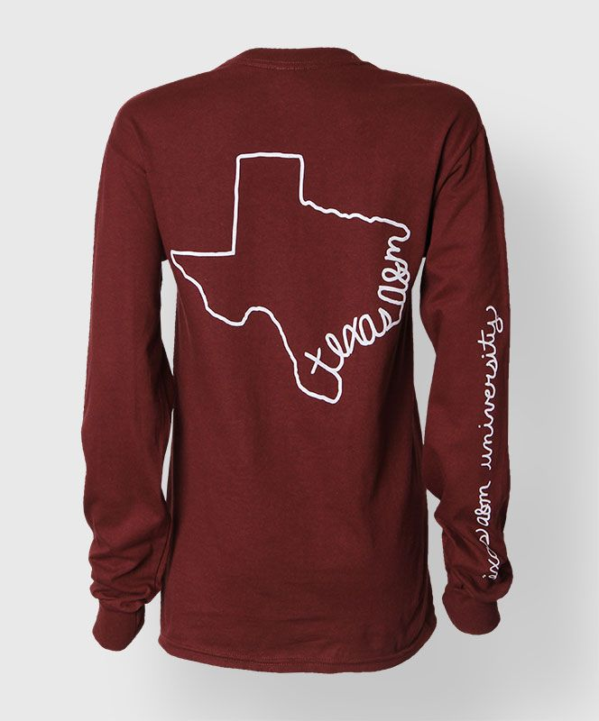long sleeve Texas A&M t-shirt–because I don't already have enough