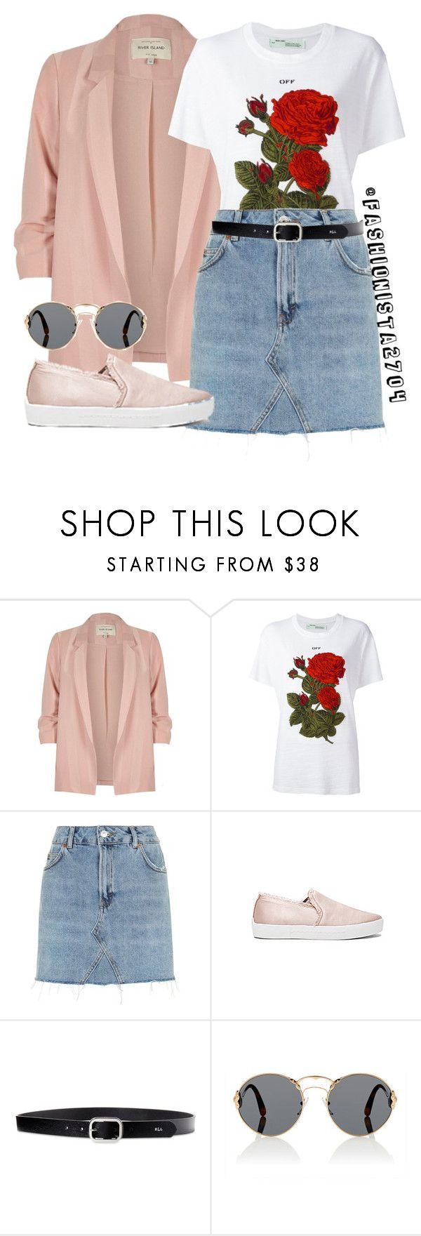 """""""Untitled #887"""" by fashionista2704 on Polyvore featuring River Island, Off-White, Topshop, Joie, Lauren Ralph Lauren and Prada"""
