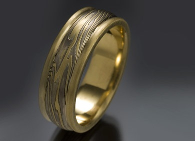 mokume rings for men unique mens wedding bands rings unique - Unusual Mens Wedding Rings