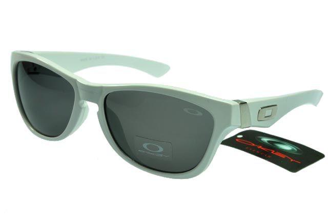 Oakley Active Sunglasses White Frame Gray Lens 0057