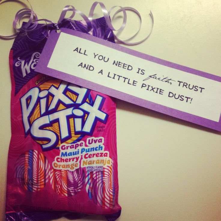 Leave your Little an anonymous gift throughout the week that represents one of the values. Pixie Sticks for Faith.