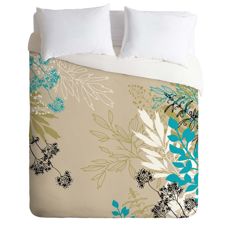 Juliana Curi Natural Leaves Duvet Cover   DENY Designs Home Accessories