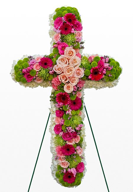 funeral flowers   HOME FUNERAL FLOWERS FUNERAL FORMS CROSS FORM 9-02