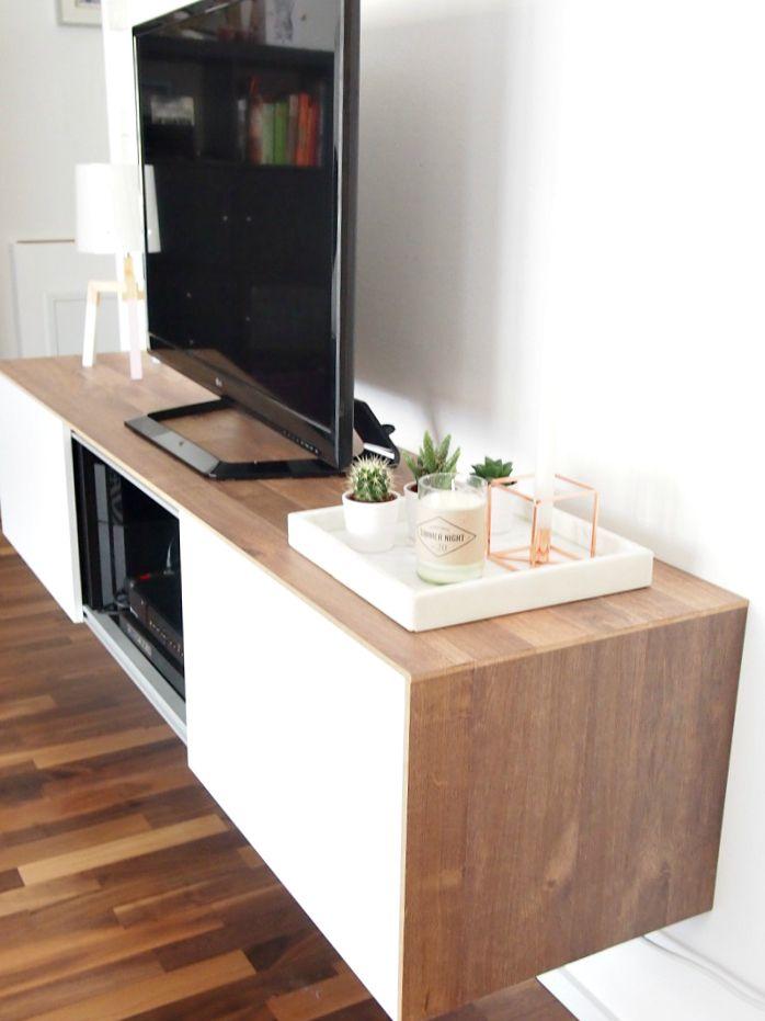 Ikea Sideboard mit Laminat verkleidet