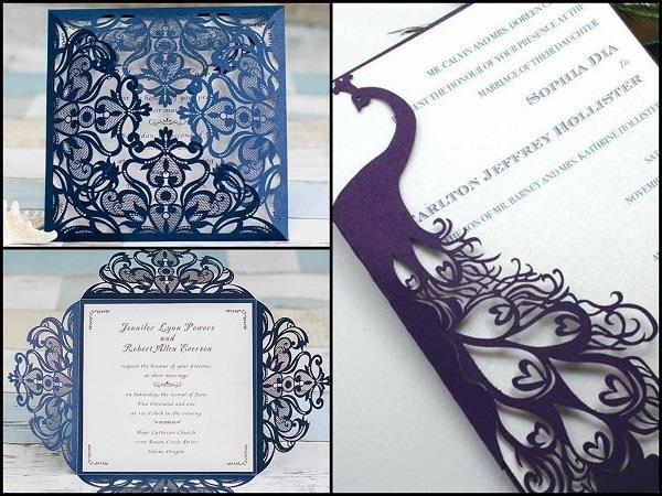 Wedding Cards With Laser Cut Design. #Wedding #WomenTriangle www.womentriangle.com