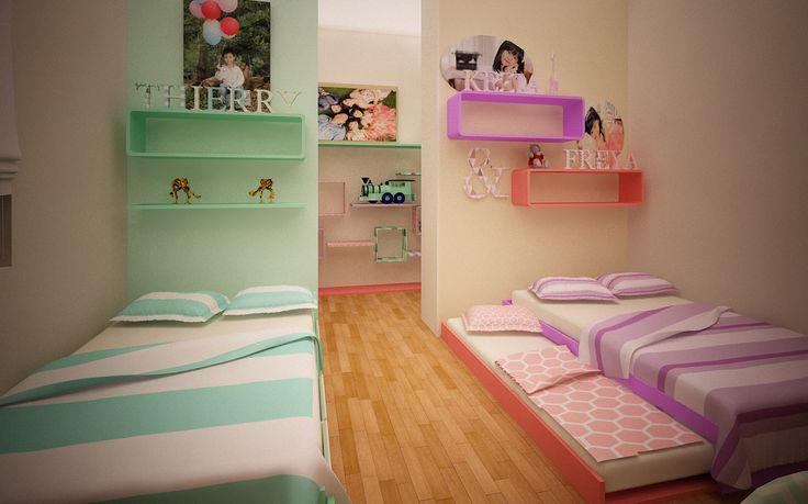 Children room for 3 kids #bedroom #kidsroom #childrenroom #kids