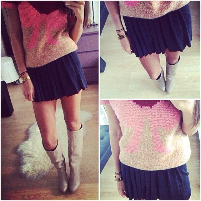 Nude boots & pastels