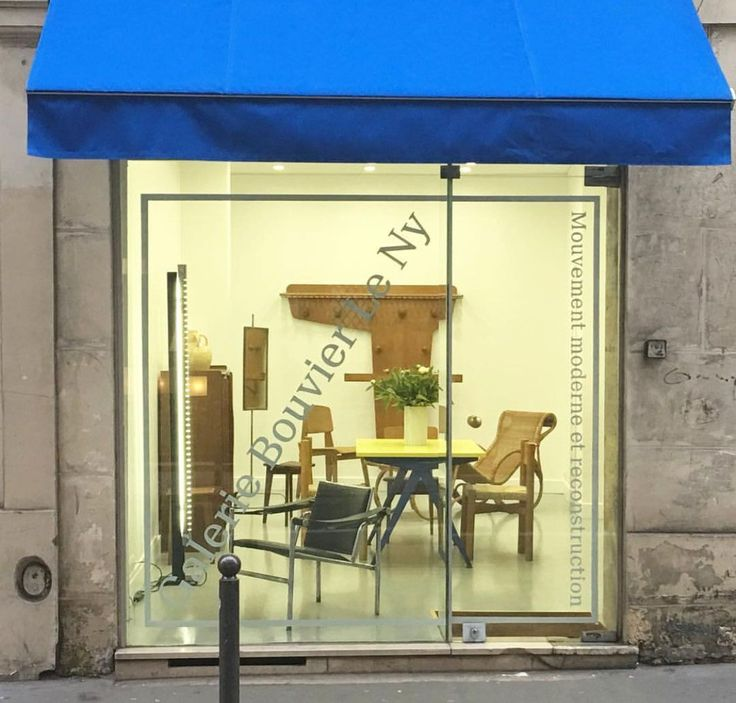 Stores:   Galerie Bouvier - Le Ny: 50s furniture in Paris   The gallery front in rue de Tournon in Saint-Germain, Paris and a 50s wall-mounted coat rack