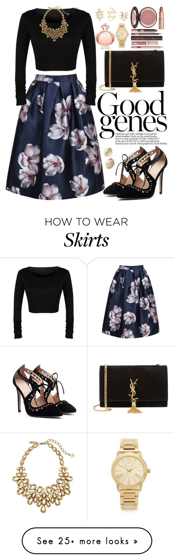 """Sassyselfie.com"" by oshint on Polyvore featuring Oscar de la Renta, Yves Saint Laurent, Charlotte Tilbury, Michael Kors, Charlotte Russe, Paco Rabanne and Kate Spade"