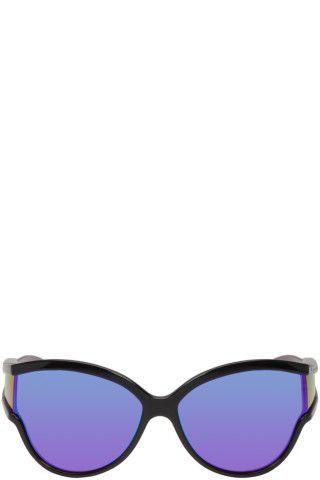 b4655abaa08cb Balenciaga - Black Round Unlimited Sunglasses