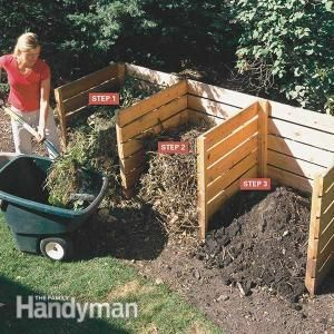 Composting Tips: Kick your composting up a notch with these tips. Using this simple 3-bin composter you can turn yard and kitchen waste into rich compost in 4 to 6 weeks. Read more: http://www.familyhandyman.com/garden/composting-tips/view-all
