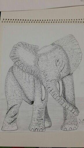 Elephant pointilism