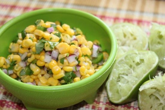 CHIPOTLE'S CORN SALSA I used only 1 lime and 1 1/2 jalepenos. Easy ...