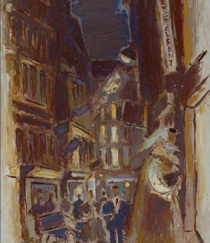 Gerard Sekoto - Paris street