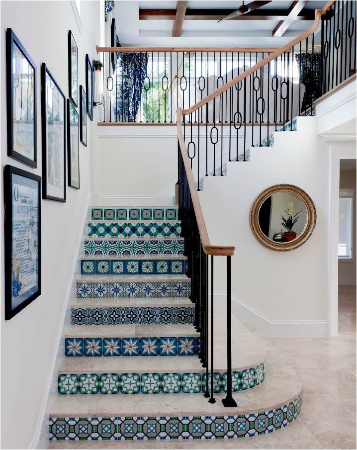 Tiled Staircases  Centsational Girl House Stairs DesignInterior Best 25 Beach house interiors ideas on Pinterest