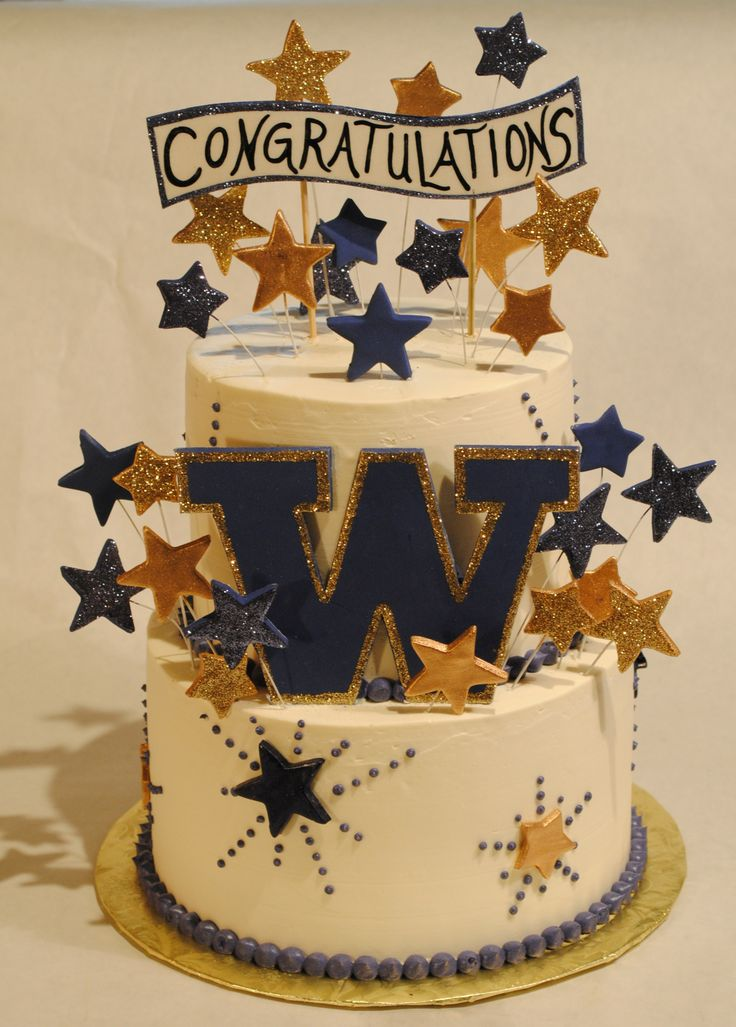 UW- University of Washington-Graduation Cake