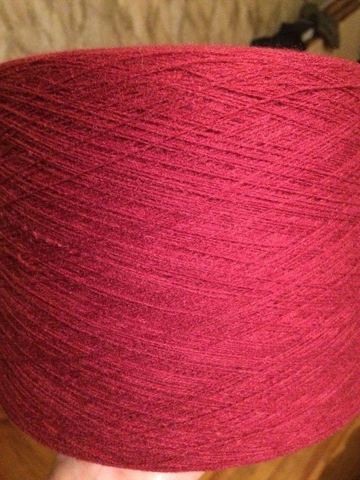 Купить Пряжа 100%ПАН акрил цвет красная брусника - пряжа, пряжа для вязания, ярко-красный