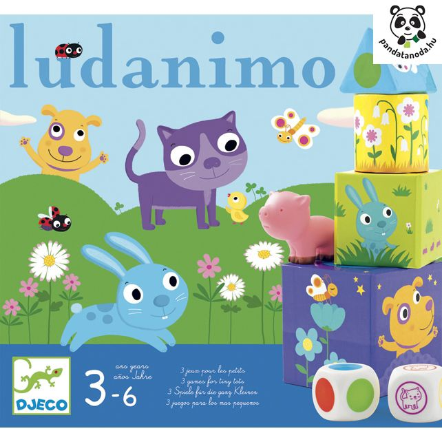 Ludanimo 3 az 1-ben társasjáték kicsiknek Djeco | Pandatanoda.hu Játék webáruház