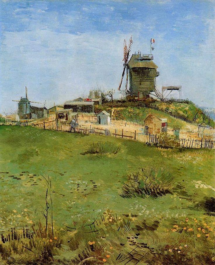 Van Gogh, Le Moulin de la Galette, March 1887. Oil on canvas, 47.31 x 39.37 cm. Carnegie Museum of Art, Pittsburgh.
