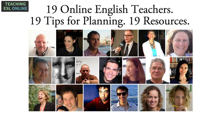 19 Successful online English teachers. 19 tips for planning. 19 resources. Take your online lessons planning to the next level!