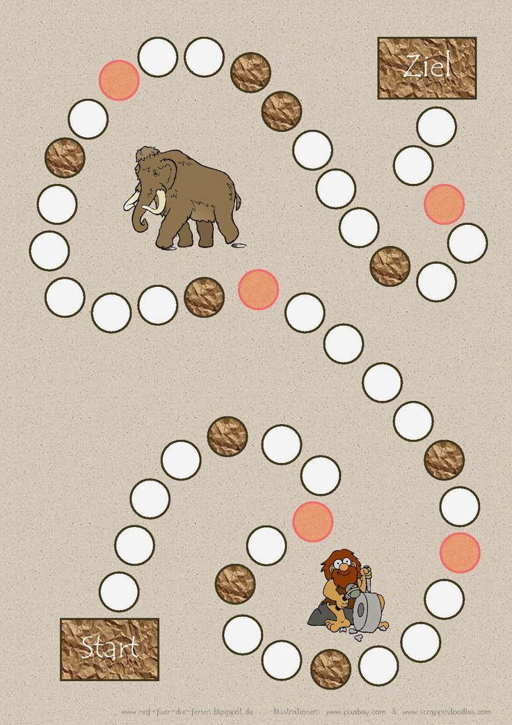 Reif für die Ferien: Lernspiel zum Thema Steinzeit