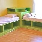 If we dont go with loft beds, this is cute.
