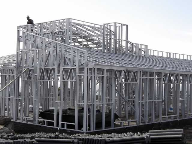 light steel frame construction alternative building
