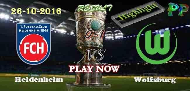 Heidenheim 0 - 1 Wolfsburg 26.10.2016 HIGHLIGHTS - PPsoccer