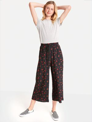 479a006cb0 ✰ Nobody's Child Black Verity Drawstring Culotte Trousers ✰ | The ...