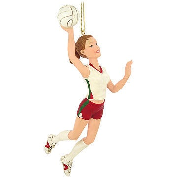 female volleyball player ornament #volleyball #ornament #Christmas $7.99