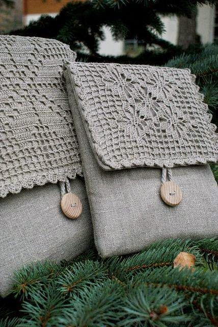 Irish crochet &: Bags. Ideas from the Internet. WITHOUT scheme.  <3