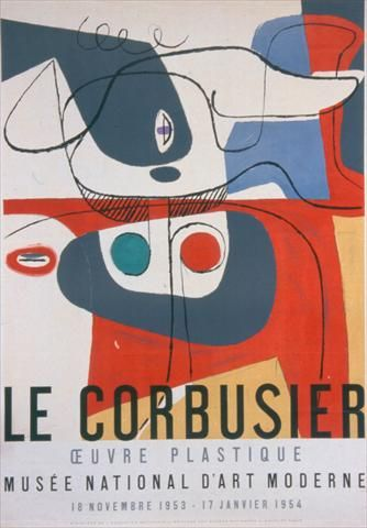 Le Corbusier, Exhibition 1953-1954, Musée National d'Art Moderne.