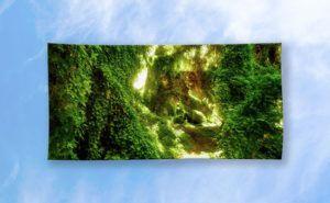 The Secret Garden, Gwelup Beach Towel design by Dave Catley featuring Golden…
