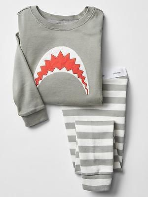 Baby Gap boys shark stripe pajamas 18-24 months 2t 3t 5t NWT