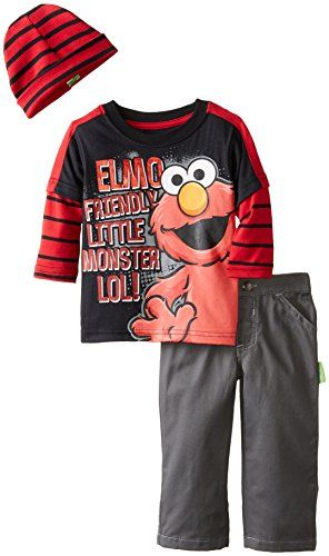 Sesame St Baby Boys' 2 Piece Elmo Long Sleeve Tee Pant and Beanie, Black, 12 Months Sesame Street http://www.amazon.com/dp/B00WUEEQY0/ref=cm_sw_r_pi_dp_GzmIwb1AQJAPZ