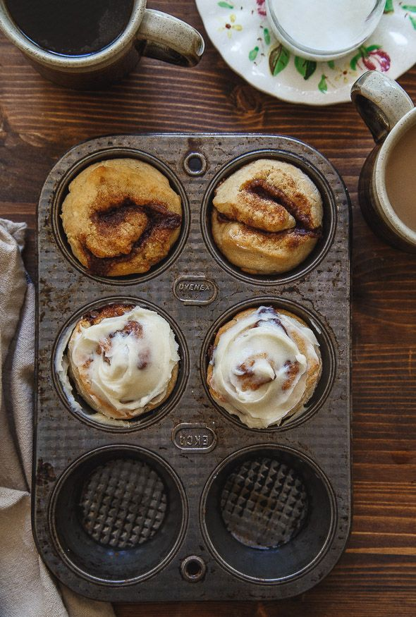 A small batch of cinnamon rolls for two @dessertfortwo