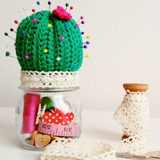 Cactus en tela, papel, cartón, crochet y mucho más