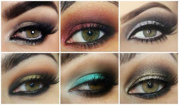 maquillage yeux verts soiree