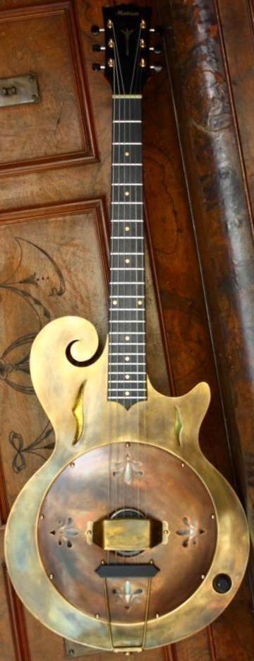 Russ Mattsen Scroll Resonator Guitar --- https://www.pinterest.com/lardyfatboy/