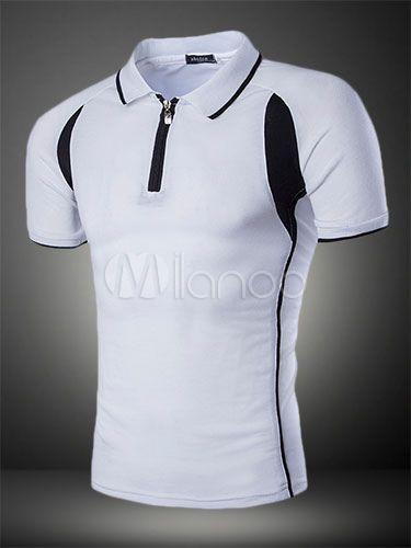 Camisa de Polo de mezcla de algodón blanco con rayas de moda para las mujeres